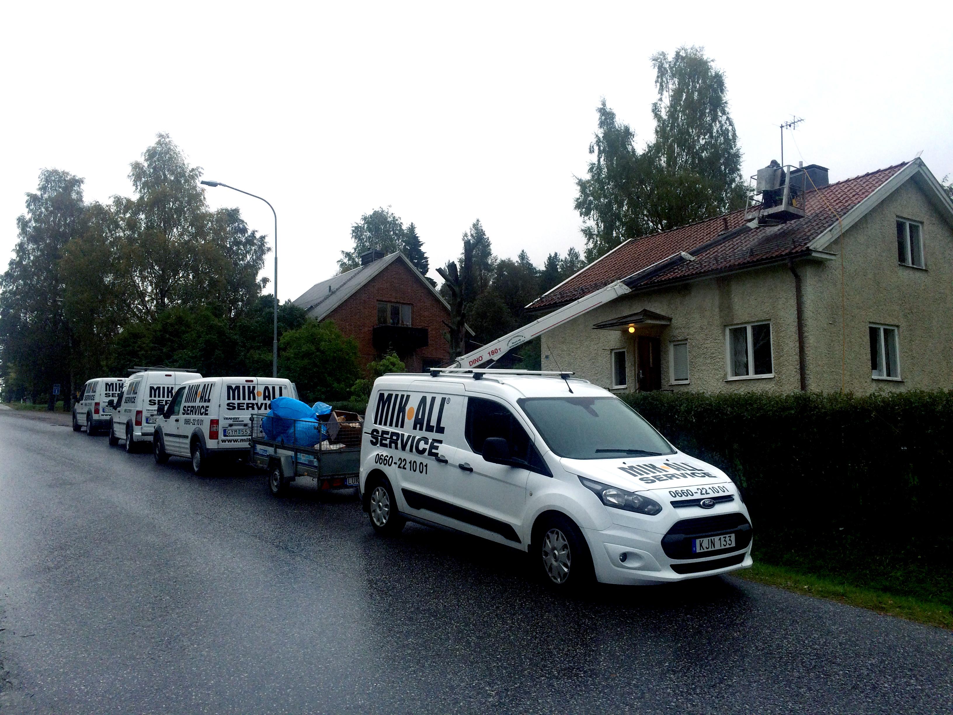 MIK ALL Service AB färdigställer ett hus för uthyrning.