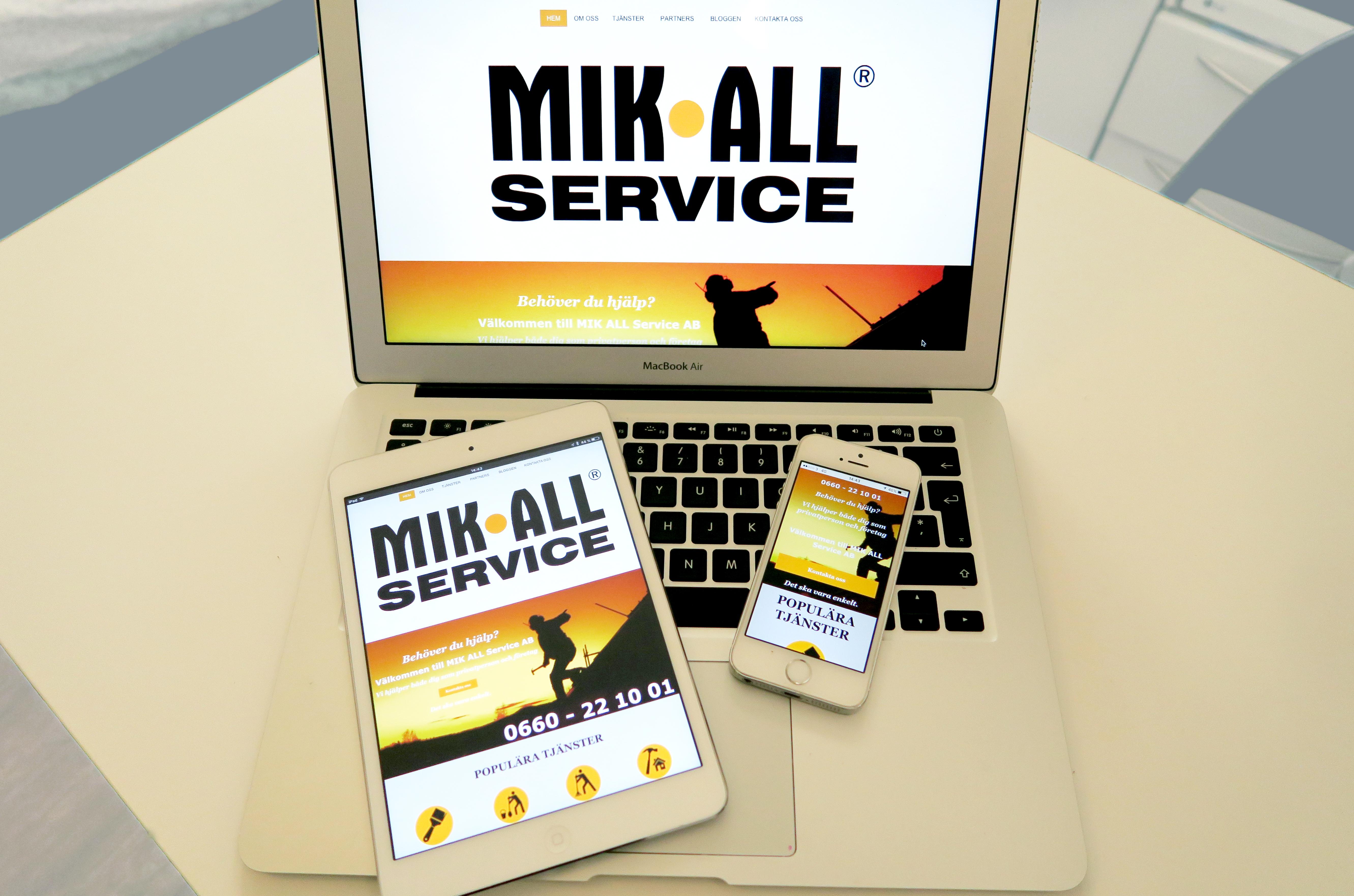 MIK ALL Service AB har en ny hemsida. www.mikallservice.com
