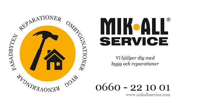MIK ALL Service, vi hjälper dig med bygg och reparationer i örnsköldsvik