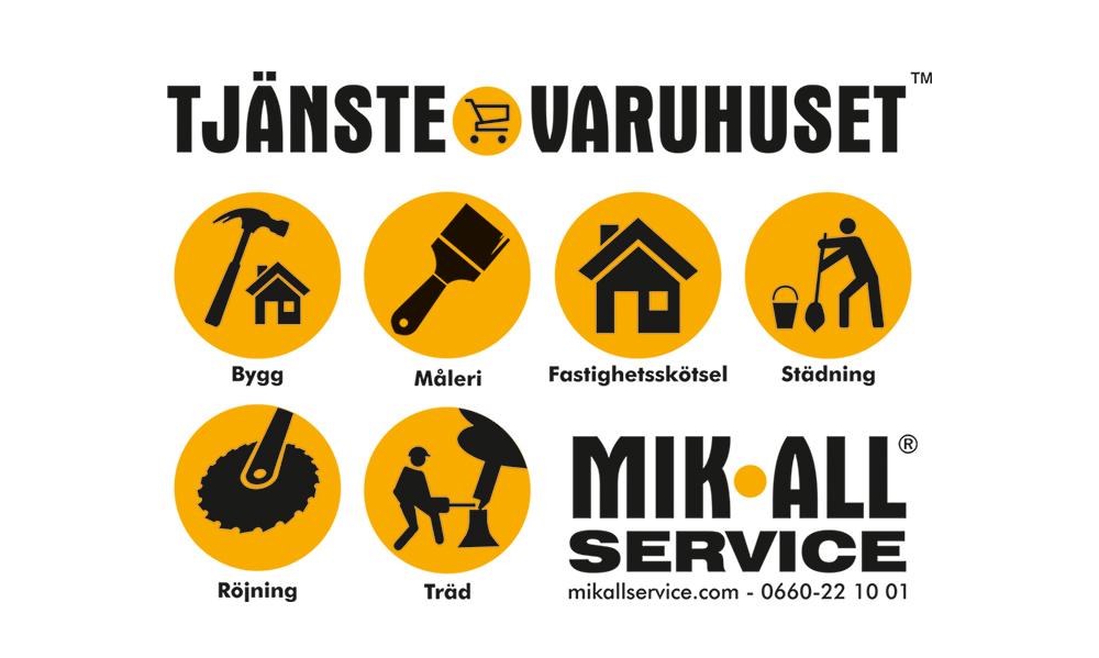 Tjänstevaruhuset i Örnsköldsvik och Umeå, MIK ALL Service AB