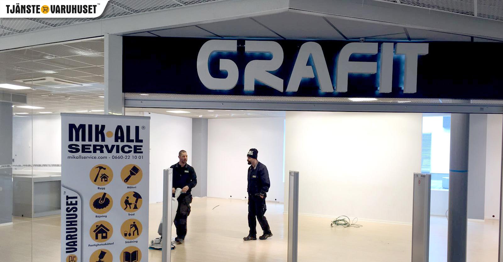 Utstädning på Grafit i Örnsköldsvik, MIK ALL Service AB Städfirma