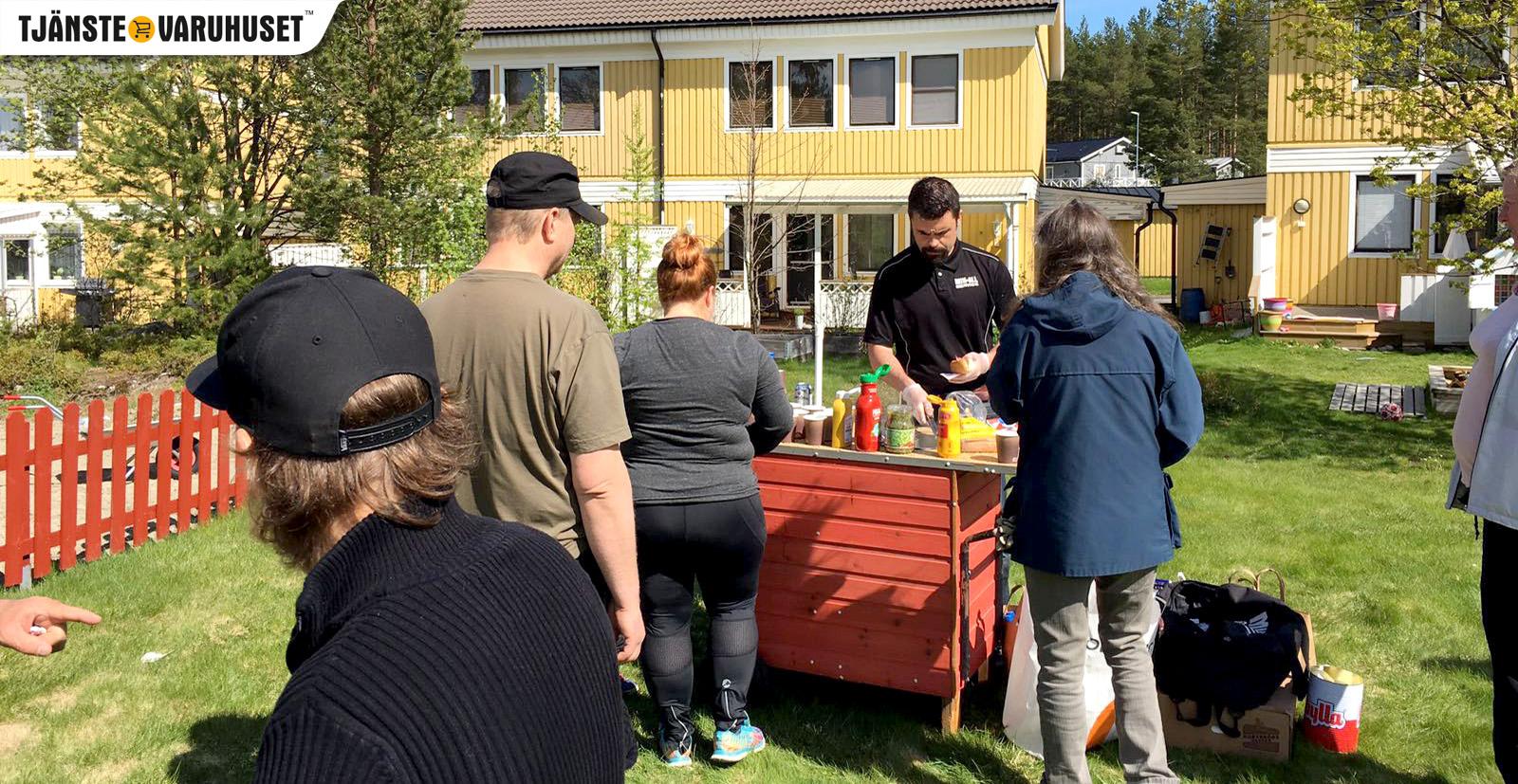 MIK ALL Service serverar lunch för en av våra bostadsrättsföreningar på jakttornet