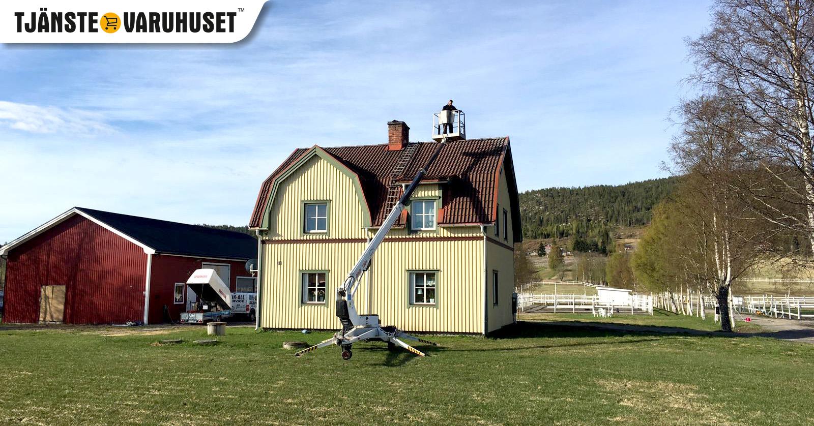 Vi hjälper dig med taktvätt och takvård i Örnsköldsvik och Umeå, MIK ALL Service AB