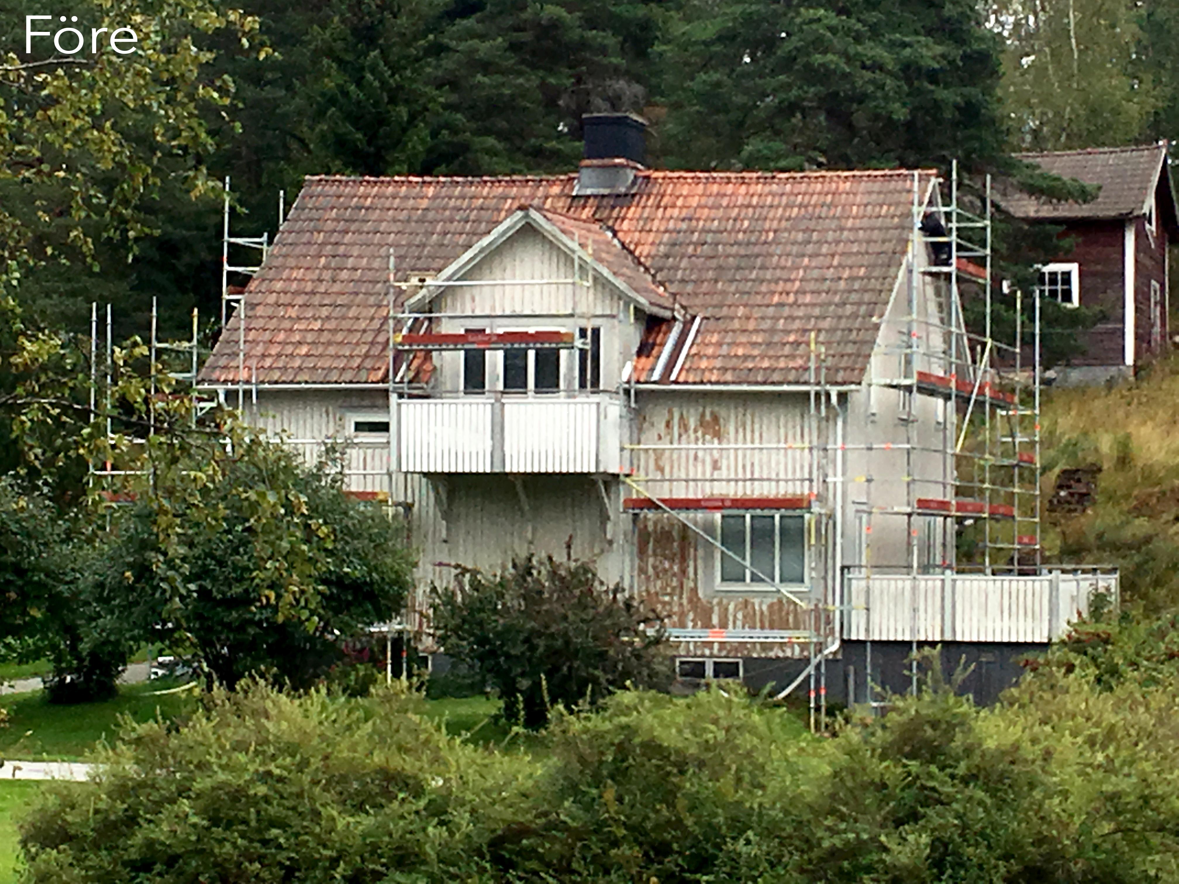 Förebild INNAN takbyte och fasadbyte.